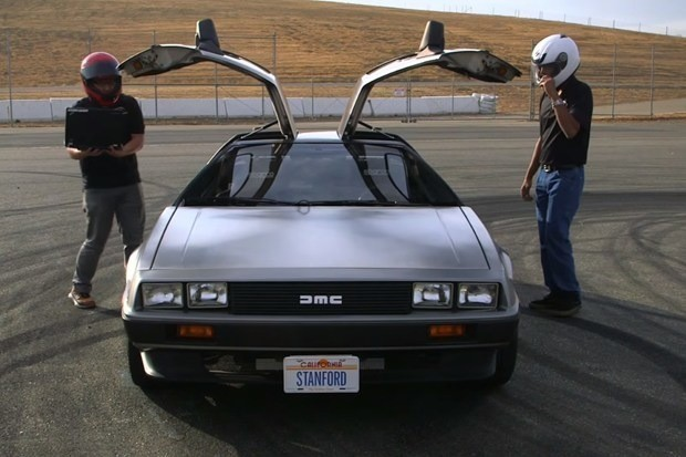 This self-driving electric DeLorean knows how to drift