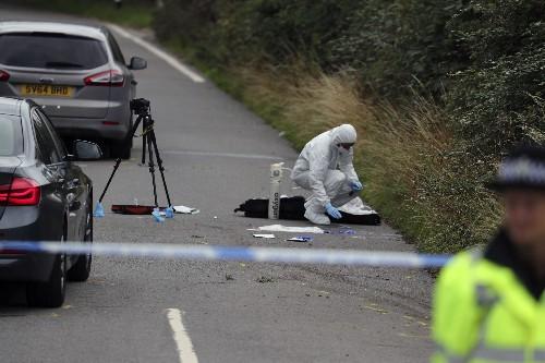 UK police officer slain investigating burglary, 10 arrested