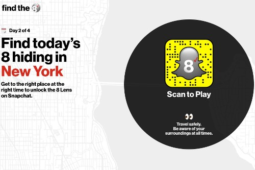 Verizon is giving away free iPhone 8s in an AR Snapchat scavenger hunt