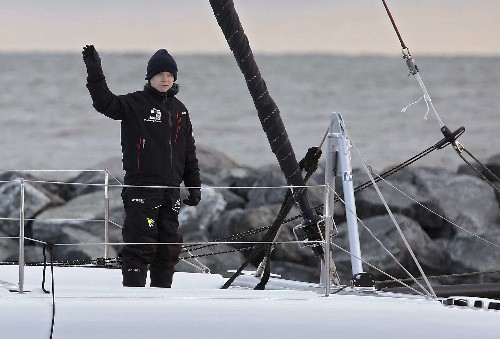 Greta Thunberg hitches low-carbon ride across Atlantic