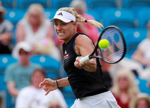 Kerber leads high-powered trio through in Eastbourne