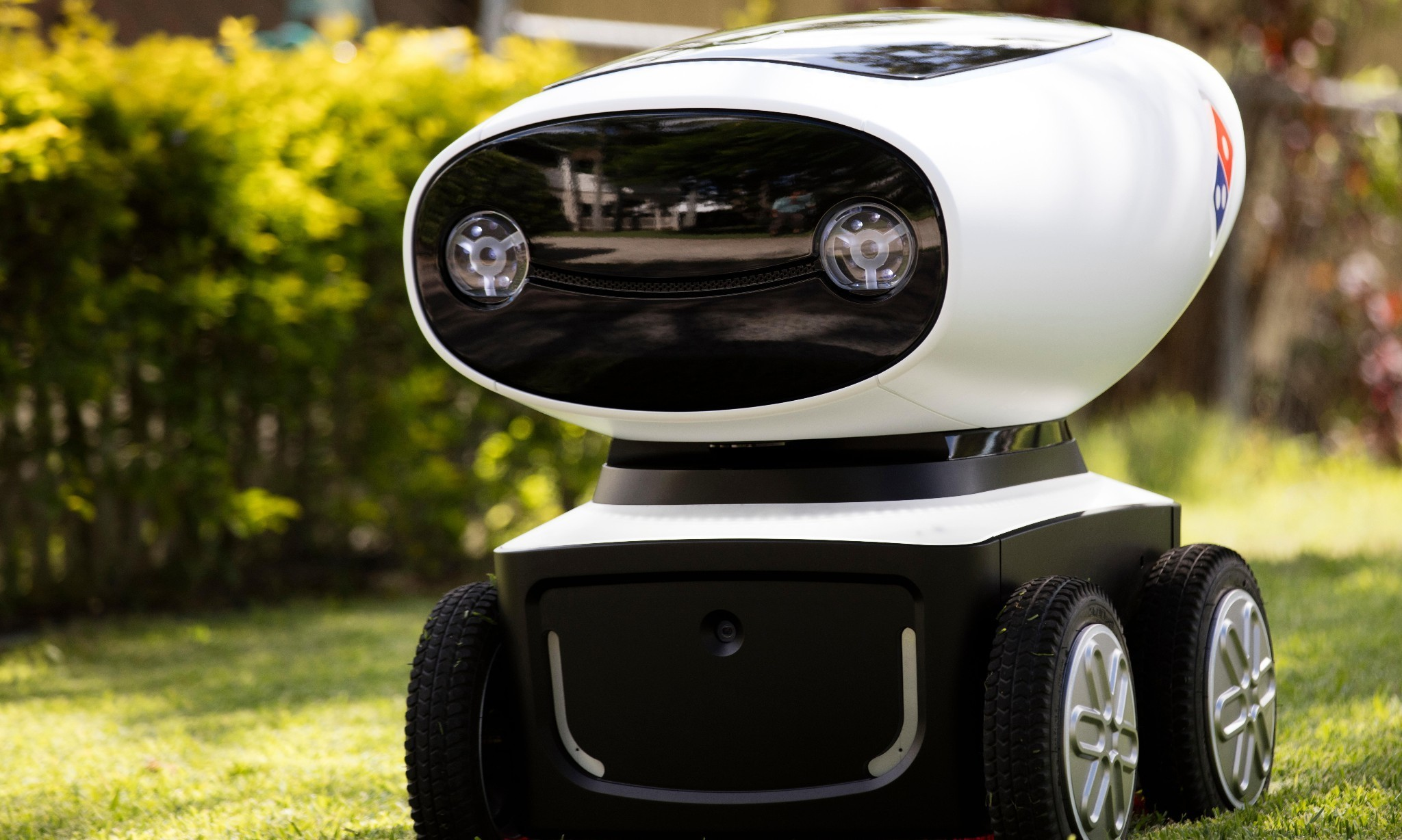 Domino's unveil 'world's first' pizza delivery robot