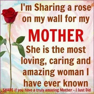 Miss my Mom everyday! She was ask amazing woman! She always have never asked for anything! She was with me through everything! She will be forever in my heart!