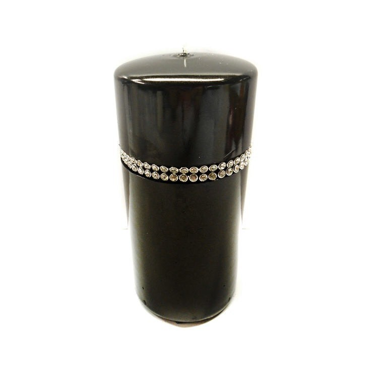 Black gem candle