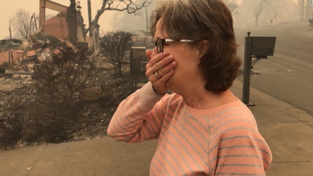 Ashes and bones found in ruins scorched from California wildfires