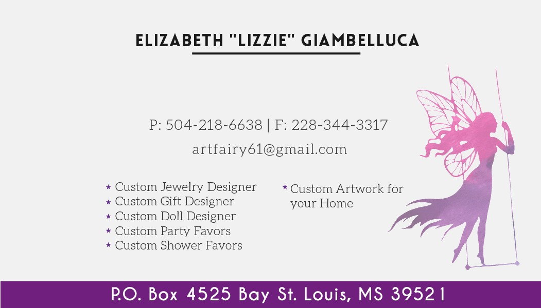 Please feel free to contact me if any artists or crafters are interested in being a part of this website that is really going to grow large. Thank you so much! Lizzie