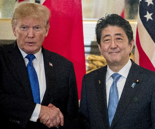 Japan courts Trump using emperor, first lady's birthday