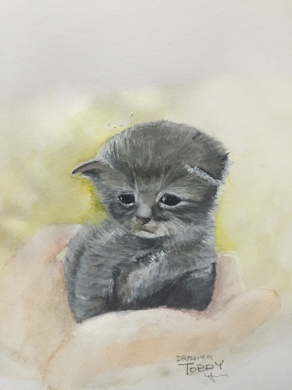 Name: please dont abandoned me Drawing by Tobby choi Watercolor I'm happy while you take me, but if one day, you leave me alone, I will feel so hurt.