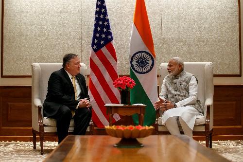 Pompeo meets India PM Modi for talks on trade, defense