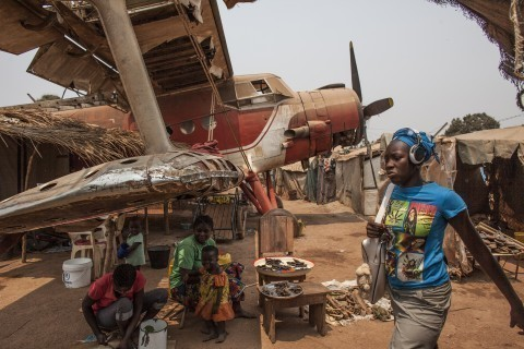 Despite harsh conditions, life continues inside the Central African Republic's camp for the displaced