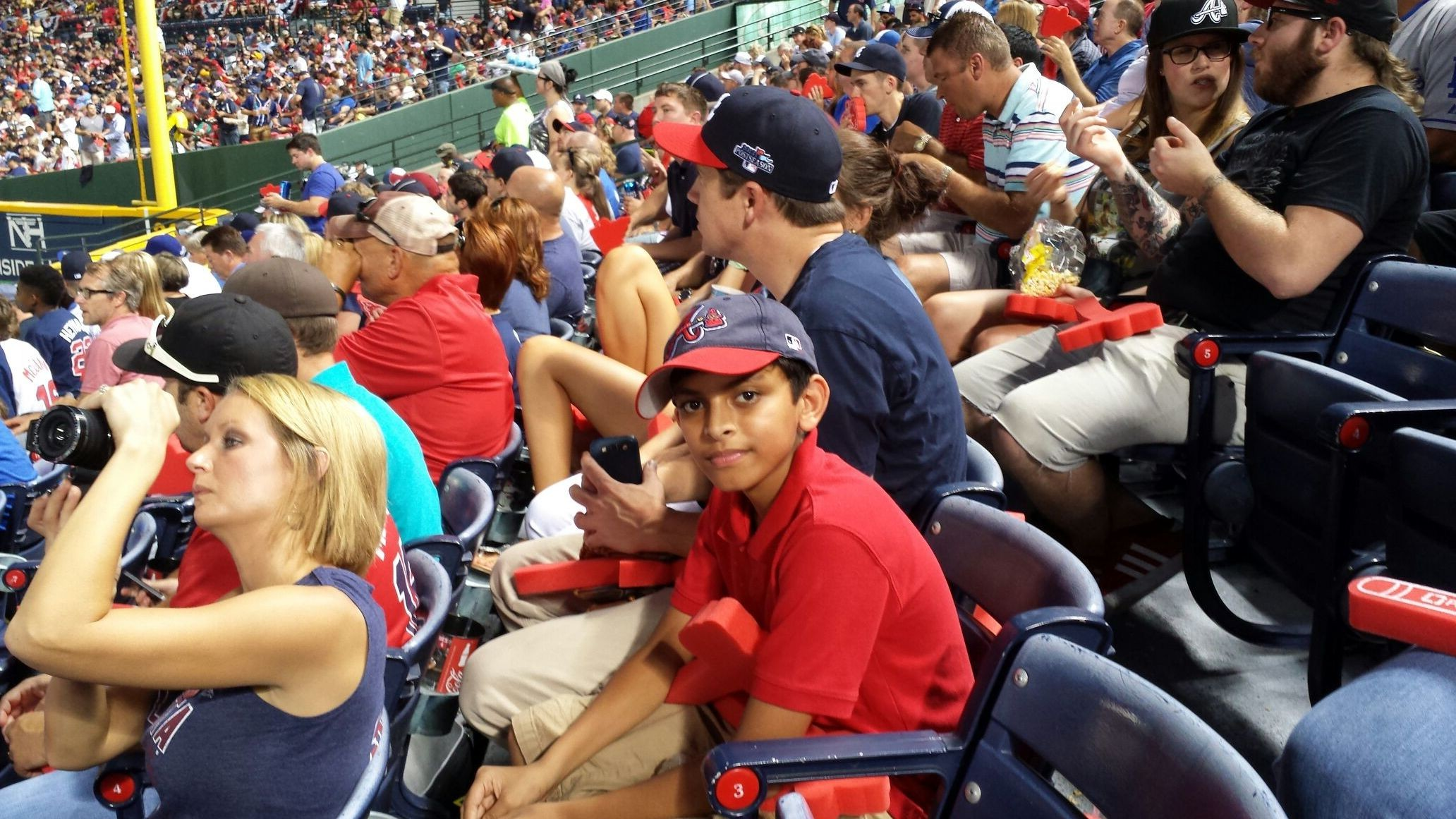 Eashan's first play off braves game