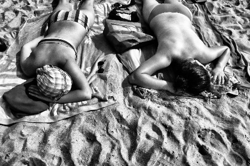 New York Street Photography - On The Beach At Coney Island With Michael Sweet