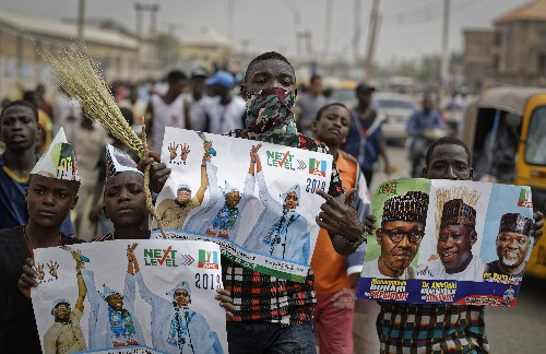 Nigeria's president is re-elected, but challenger rejects it