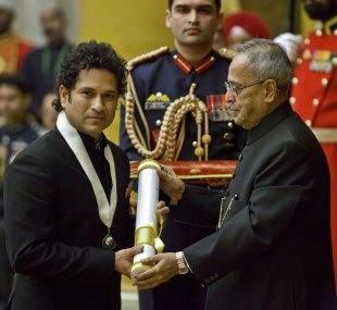 Tendulkar receives Bharat Ratna