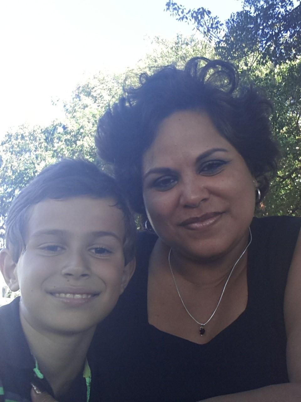 Matthew and mom