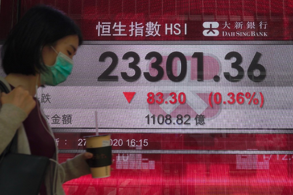 Asian shares mixed after Wall Street rally; Hong Kong lower