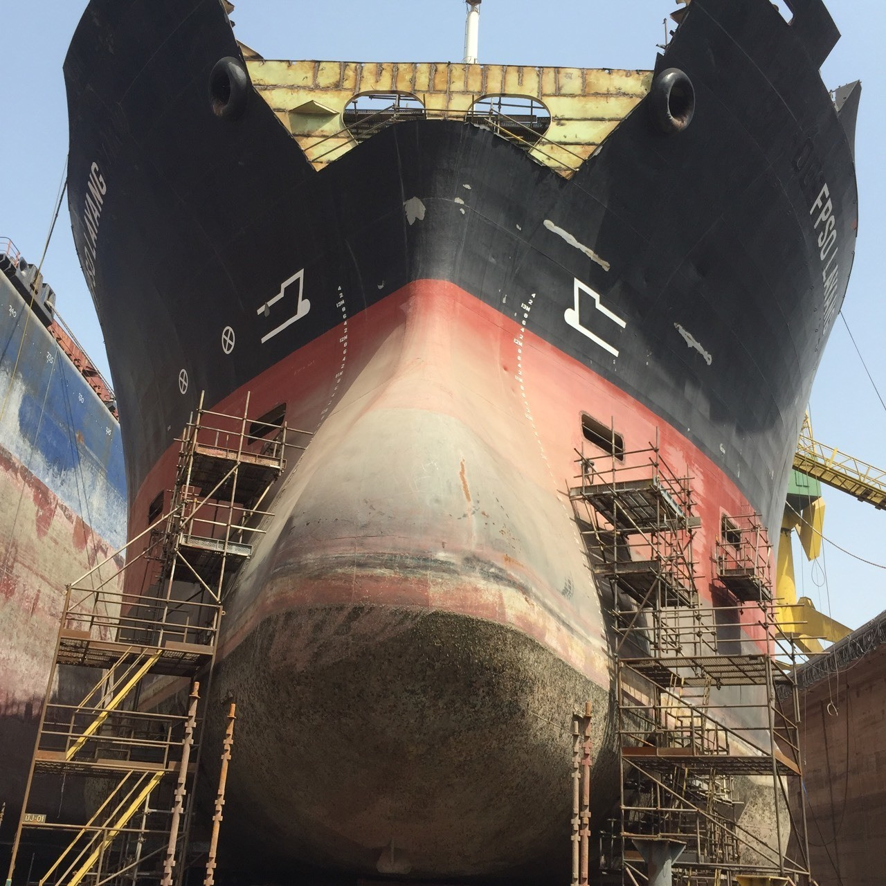 Bow side of layang FPSO DDWD