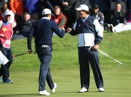 US leads after Ryder Cup fourballs