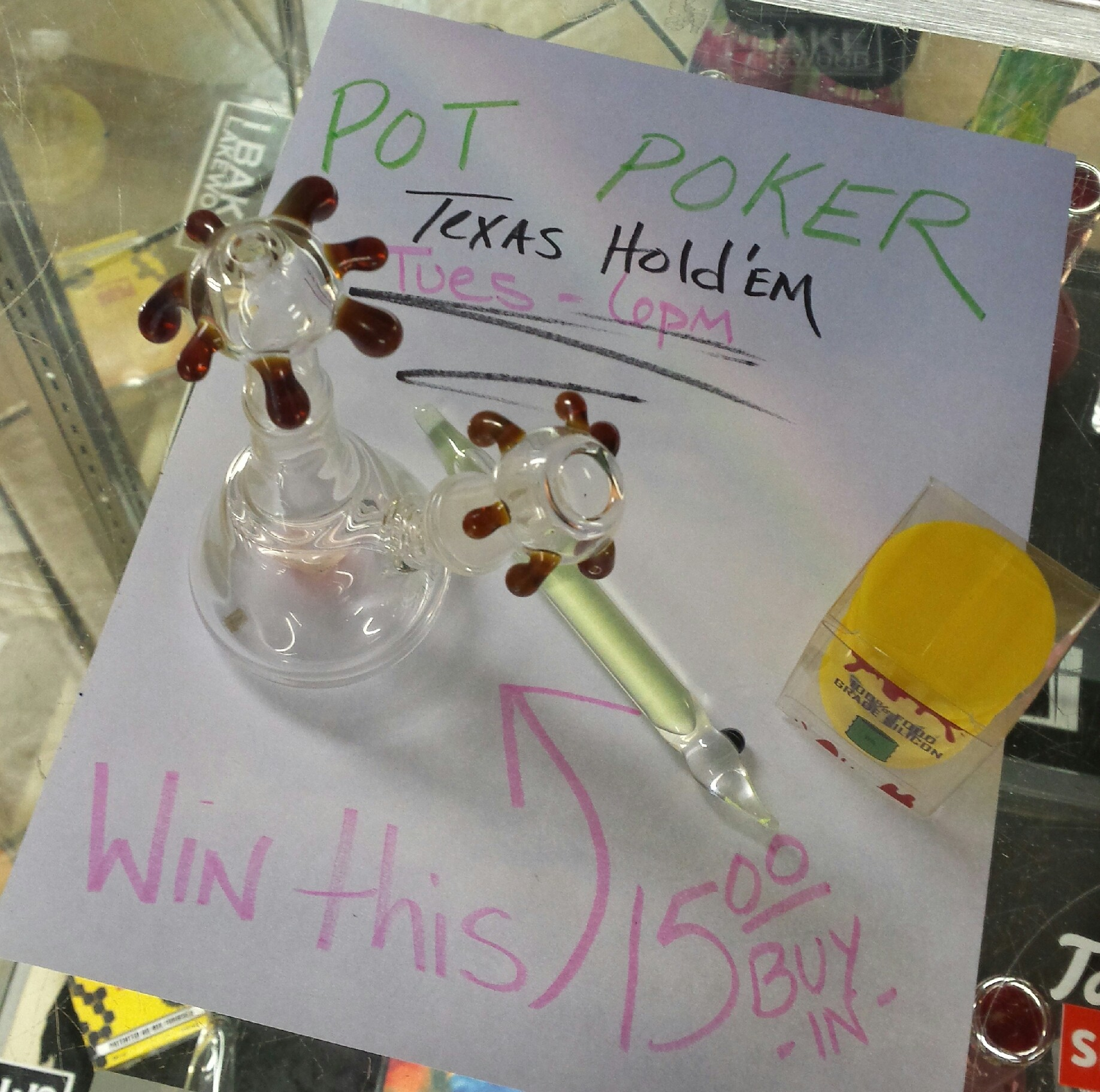 """Win this OIL set up! This Tues 6 p.m. (10/06) """"Pot Poker"""" Texas Hold'em 15.oo buy in. 6125 Washington St. Denver, Colorado Www.iBakeDenver.com"""