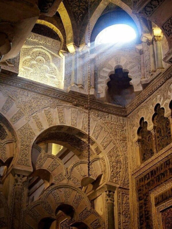 Great Mosque of Córdoba, Spain. Built 784 A.D.