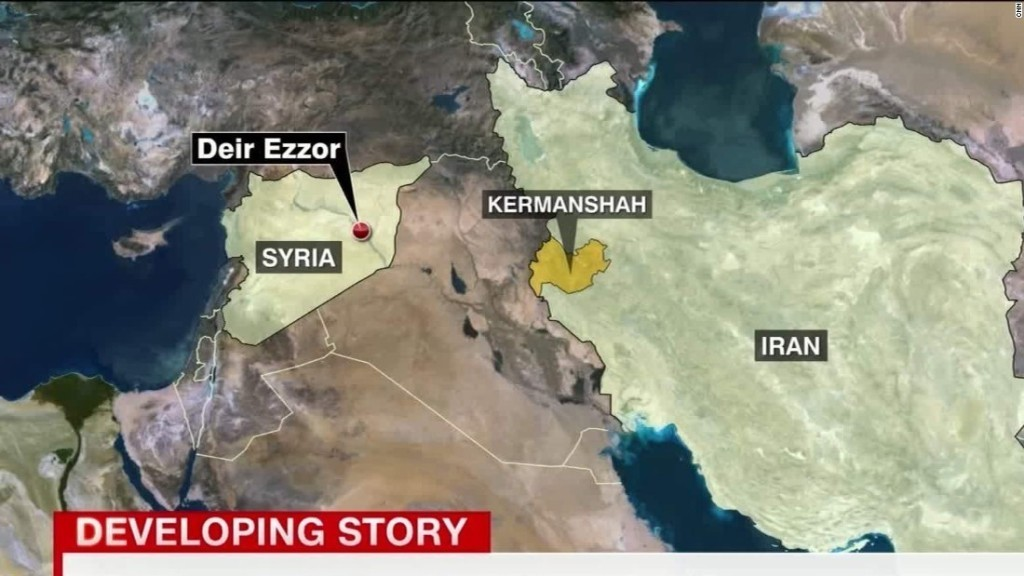 Iran launches missiles into eastern Syria, targets ISIS