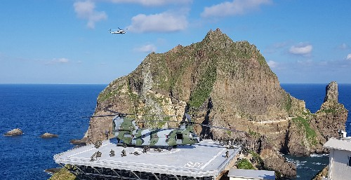 Expanded South Korean military drills around disputed island draw Japanese protest