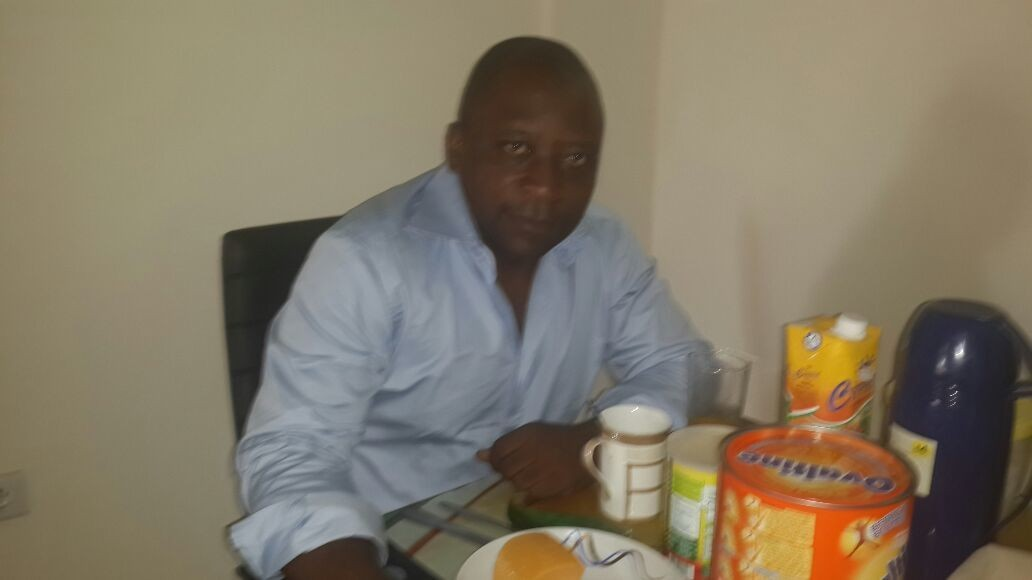 At home in Bonapriso , Douala , Cameroon having breakfast/ Petit dejeuner a la maison a Banapriso, Douala, Cameroon