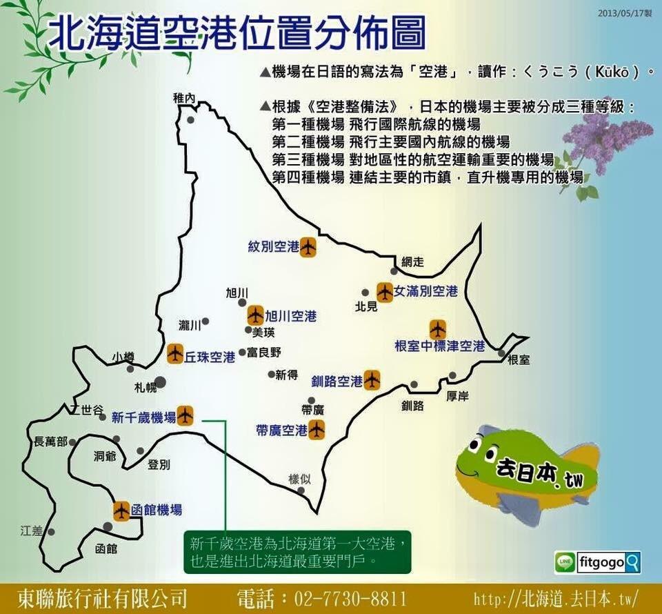 北海道空港位置圖