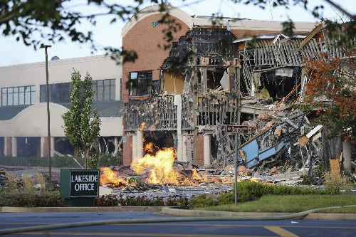 Heard for miles: Gas explosion hits office, shopping complex