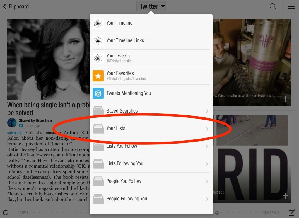 View Twitter Lists on Flipboard to Find Great Content for Your Magazines