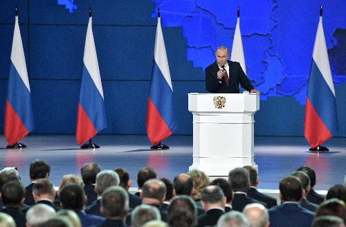 Moscow ready to cut time for nuclear strike on U.S. if necessary: Putin