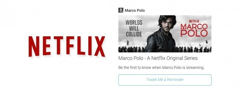 """Netflix is testing a """"Tweet Me a Reminder"""" button on Twitter for new episodes"""