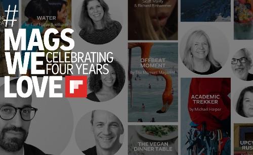 Wir feiern vier Jahre an wunderbaren Magazinen auf Flipboard