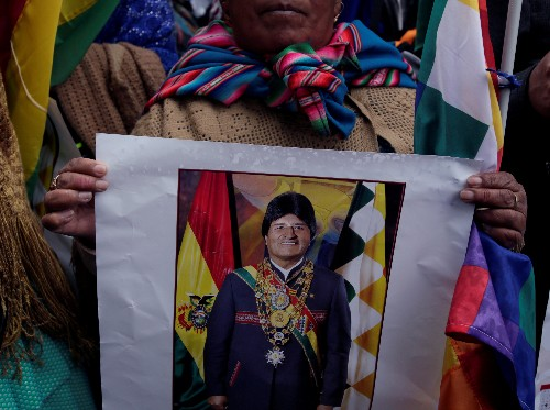 Bolivia court building razed during protest over Morales candidacy