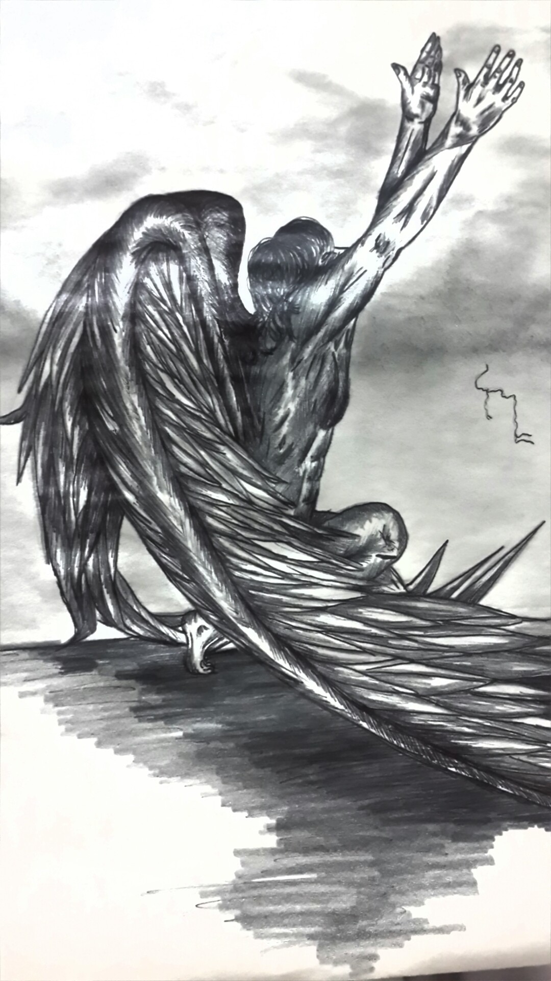 Angel consultando a ALLAH.