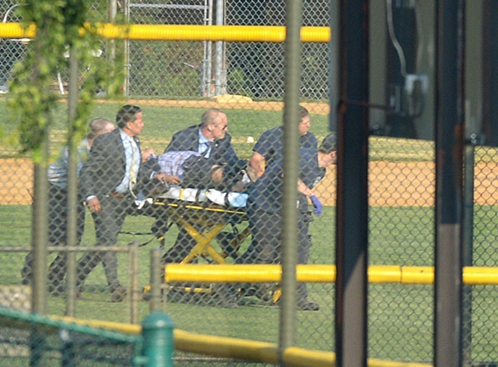 Gunman opens fire on GOP congressional baseball practice in Alexandria, Va., injuring Rep. Steve Scalise and others
