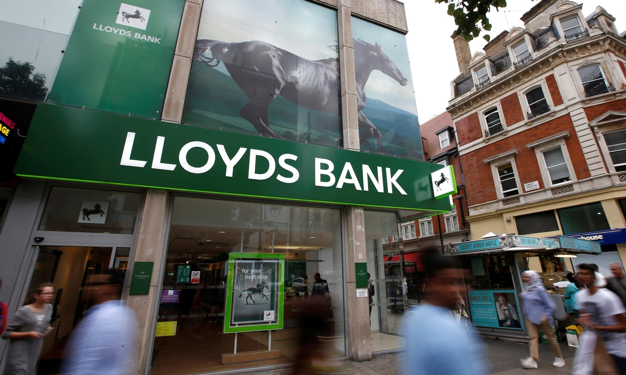 Fraud case and falling share price take shine off Lloyds's farewell to taxpayer