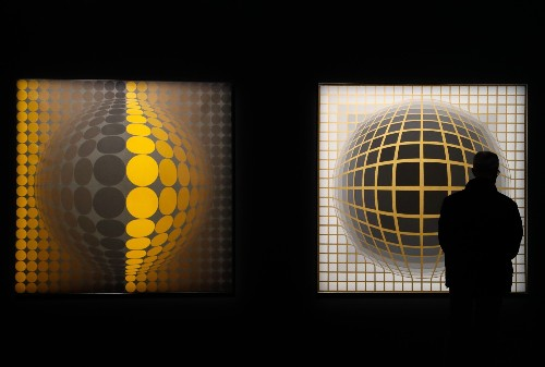 The Father of Op Art Has Exhibition in Paris: Pictures