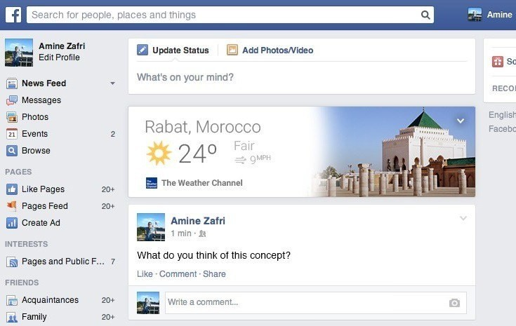 Facebook Cards Concept Inspired by Google Now