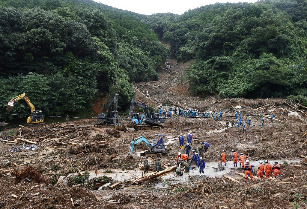 Japon: Le bilan des inondations s'alourdit à 44 morts