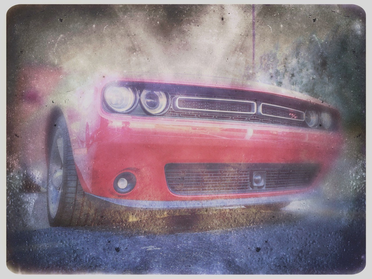 How To Take A Photo Of A Dirty Car Make the photo dirtier. #Dodge #challenger #rt #car #musclecar #fast #dirt #hipstamatic #cars #carsofinstagram #Red #instagram #instructions