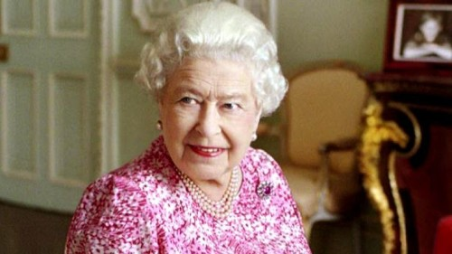 Queen Elizabeth II says her 'neck would break' if she looks down while wearing crown jewels