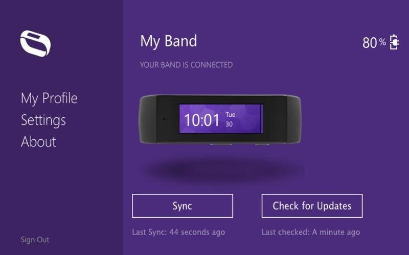 Microsoft's fitness wearable leaked in mobile app stores