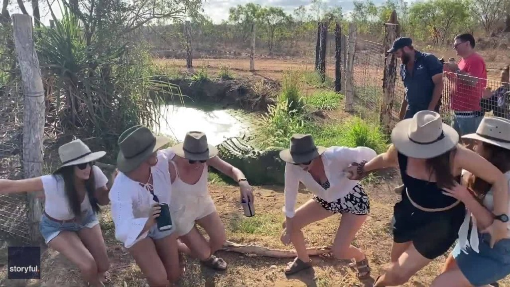 Oh Snap! Posing Tourists Given Fright in Crocodile Prank