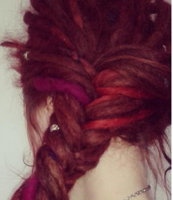 A gorgeous dread braid!