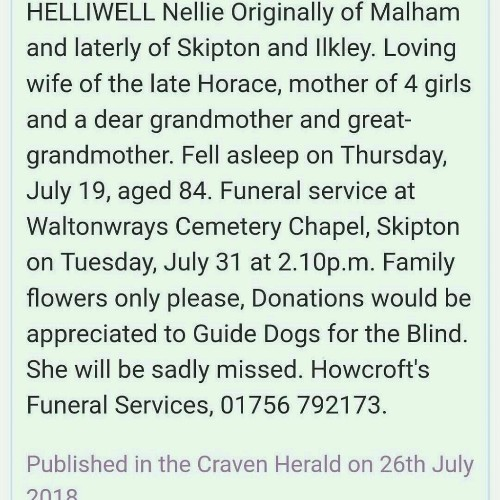 NELLIE HELLIWELL - cover