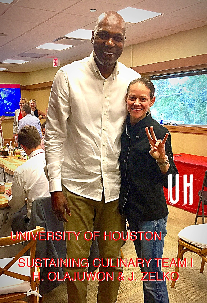 The Dream-Team @ The University of Houston...Sustaining Practices for UofH Students. Lecture Series. NBA Houston Rockets MVP, H. Olajuwon & Chef J. Zelko