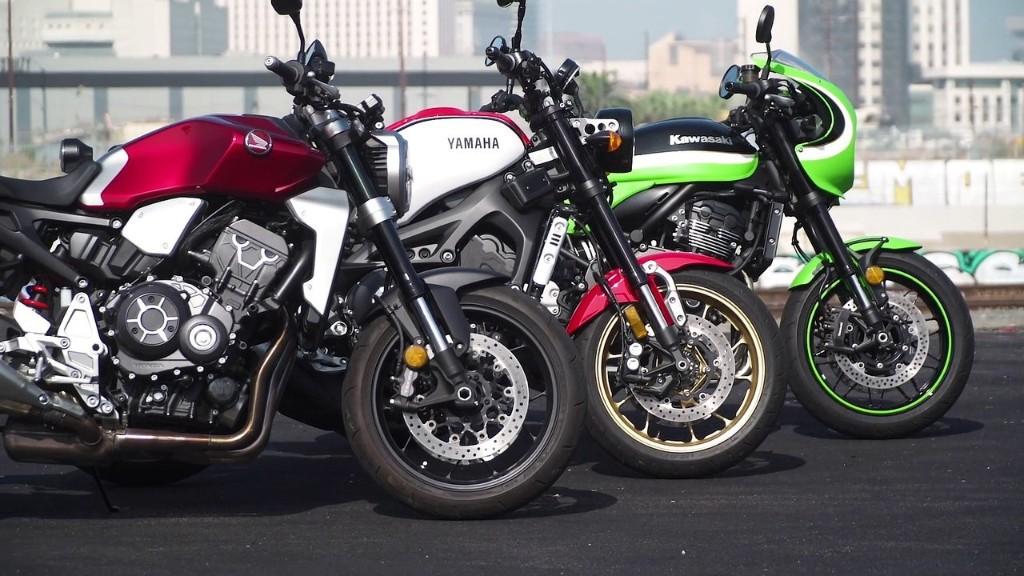 Honda CB1000R vs Kawasaki Z900RS Cafe vs Yamaha XSR900
