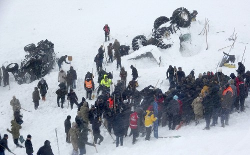Avalanche in Turkey wipes out rescue team; 38 dead overall
