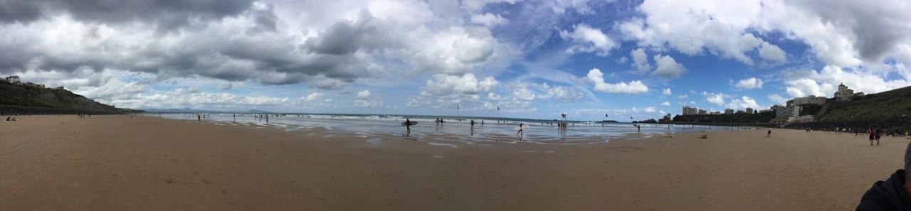 """On continue les vacances côté """"Atlantique """". Biarritz et la Côte des Basques en marée basse..."""